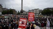 Großbritannien London | Besuch US-Präsident Donald Trump | Protest