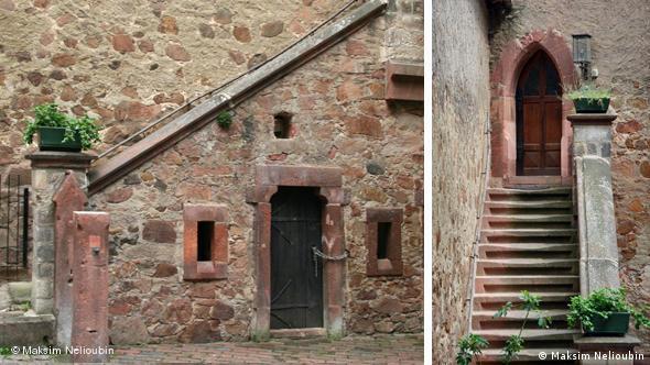 Лестница во внутреннем дворе замка