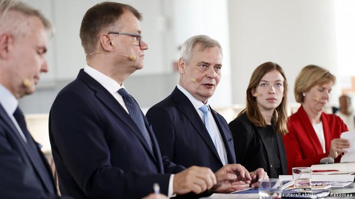 Finnland Pressekonferenz zum Regierungsprogramm |