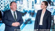 Dänemark Parlamentswahlen - TV-Duell zwischen Lars Loekke Rasmussen und Mette Frederiksen