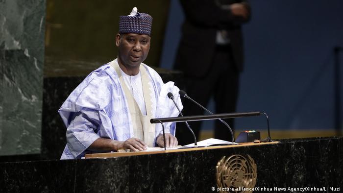 Neuer Präsident der UN-Vollversammlung Muhammad-Bande aus Nigerien (picture-alliance/Xinhua News Agency/Xinhua/Li Muzi)