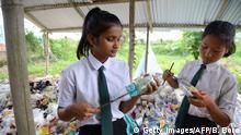 Indien Schule kämpft gegen Plastikmüll