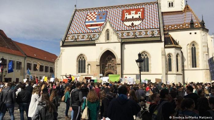 Kroatien Friday for Future Protest in Zagreb