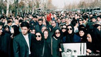 مراسم خاکسپاری محمد مختاری