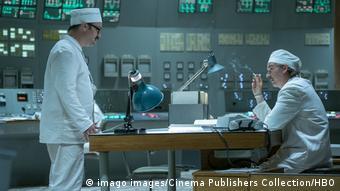 Сотрудники ЧАЭС незадолго до аварии - кадр из сериала Чернобыль