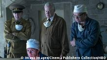 Ralph Ineson, Mark Bagnall, Stellan Skarsgard, Jared Harris, Chernobyl (2019) Episode 4. Photo Credit: Liam Daniel-HBO/The Hollywood Archive Los Angeles CA PUBLICATIONxINxGERxSUIxAUTxONLY Copyright: xHBOx 33821_016THA