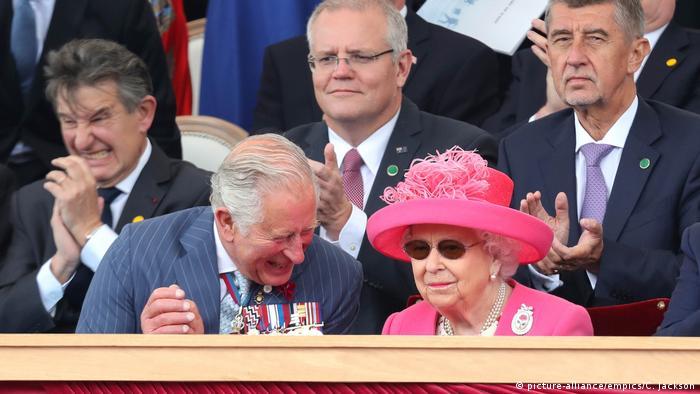 Día-D en la Segunda Guerra Mundial, Reina Isabel