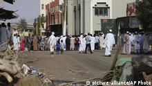 05.06.2019 *** Worshippers gather at a mosque behind a roadblock set by protesters on a main street in the Sudanese capital Khartoum to stop military vehicles from driving through the area on Wednesday, June 5, 2019. The death toll in Sudan amid a violent crackdown on pro-democracy protesters and the dispersal of their peaceful sit-in earlier this week in the capital climbed on Wednesday, protest organizers said. (AP Photo) |