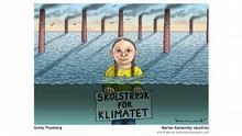 Pressebilder Ausstellung Cartoons for Future im Dortmunder U | Greta Thunberg