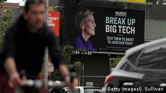 Billboard reading 'Break Up Big Tech'