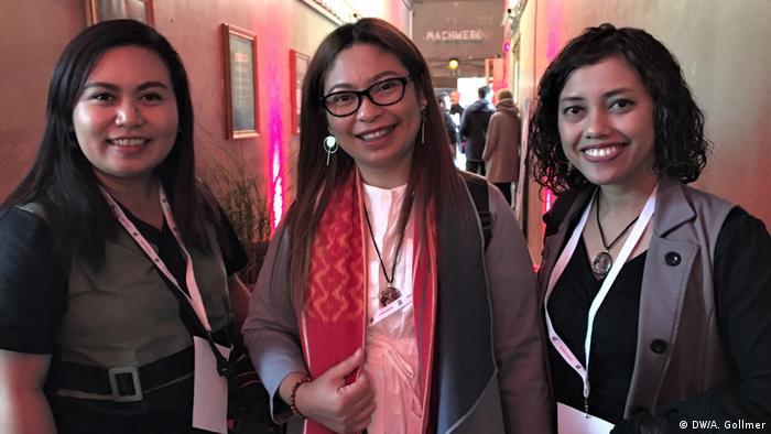 Yohanna, Kristina Sembiring und Lusi Fitriyanti (DW/A. Gollmer)