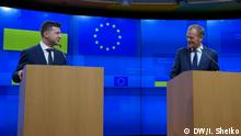 Belgien Brüssel Wolodymyr Selenskyj und Donald Tusk