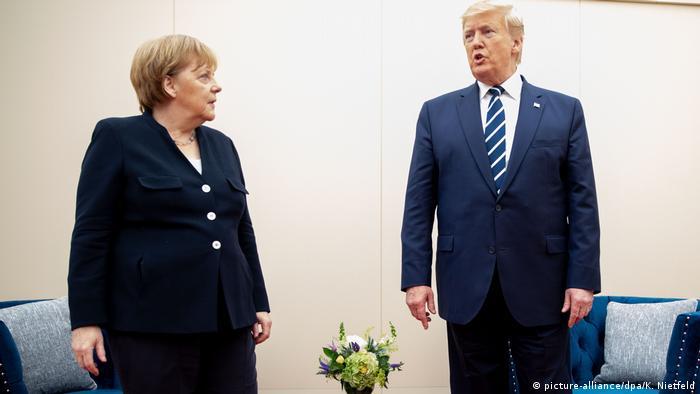 D-Day-Gedenkveranstaltung in Portsmouth | Bundeskanzlerin Angela Merkel (CDU) und Donald Trump