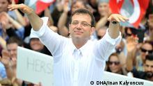 Türkei Ekrem İmamoğlu, Spitzenkandidat der CHP - Oberbürgermeisterwahl in Istanbul (DHA/Inan Kalyoncuu )