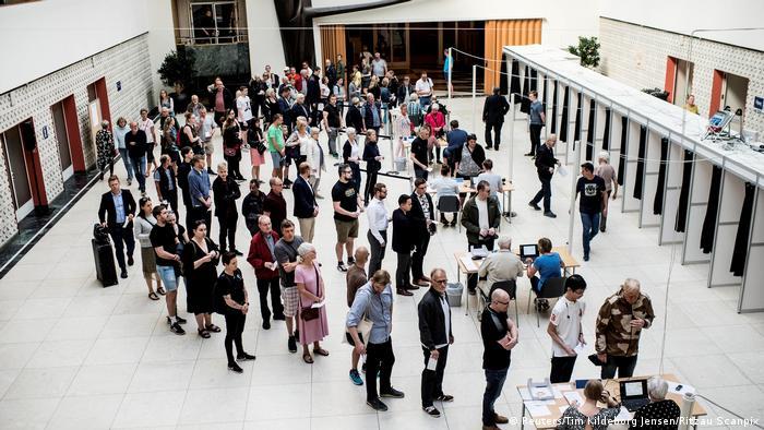 Dänemark Parlamentswahl 2019   Wahllokal in Odense