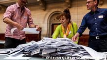 Dänemark Parlamentswahl 2019   Wahllokal in Kopenhagen