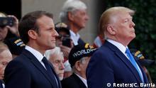 Frankreich 75. Jahrestag D-Day Normandie - Macron und Trump