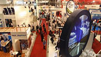 Ausstellungsräume der Internationalen Konferenz WATEC in Tel Aviv 2009