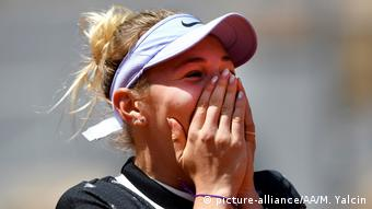 Frankreich Tennis French Open Amanda Anisimova (picture-alliance/AA/M. Yalcin)