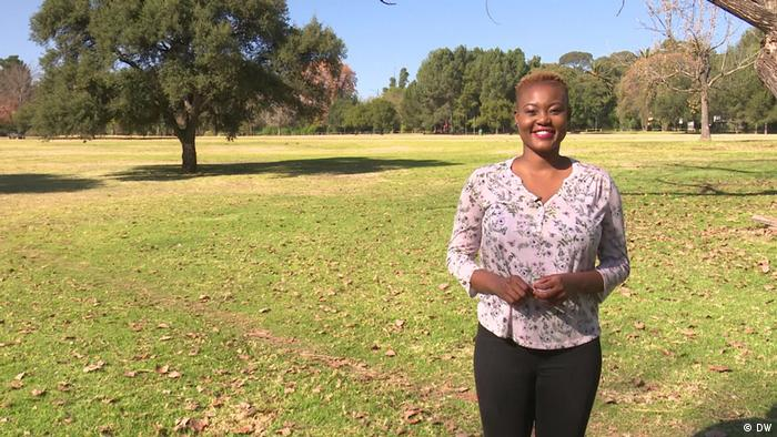 DW Eco Africa - Presenter Zihlo Ndlovu smiling in a park in South Africa
