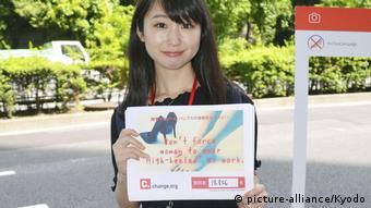 Yumi Ishikawa daha önce de topuklu ayakkabılar için girişim başlatmıştı