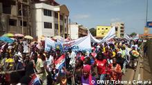 06.06.2019 Oppositionsparteien PRS und MADEM Oppositionsparteien in Guinea Bissau Demonstrieren gegen die Regierung und gegen Präsident José Mário Vaz
