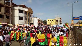 Guinea-Bissau Bissau- Oppositionsparteien PRS und MADEM (DW/F. Tchuma Camará)