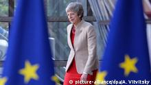 28.05.2019, Belgien, Brüssel: 5896407 28.05.2019 Britain's Prime Minister Theresa May arrives at a European Union leaders summit after European Parliament elections to discuss who should run the EU executive for the next five years, in Brussels, Belgium. Alexey Vitvitsky / Sputnik Foto: Alexey Vitvitsky/Sputnik/dpa |