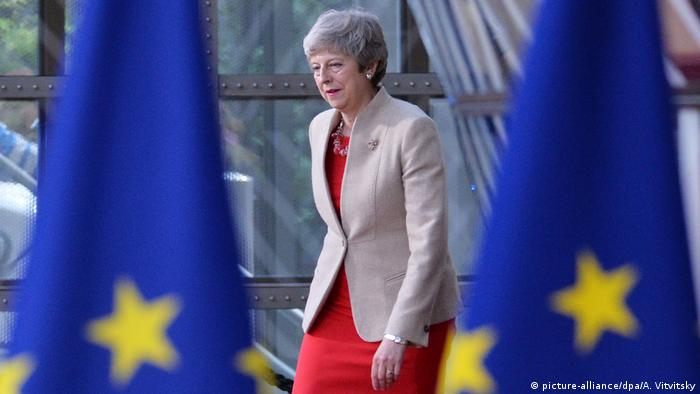 Belgien, Brüssel: Theresa May (picture-alliance/dpa/A. Vitvitsky)