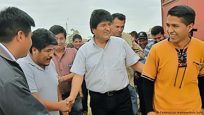 Andrónico Rodríguez und Evo Morales