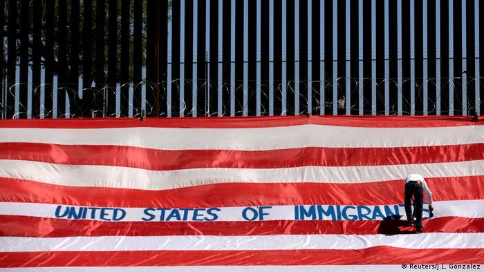 BdTD USA Protestaktion United States of Immigrants (Reuters/J.L. Gonzalez)