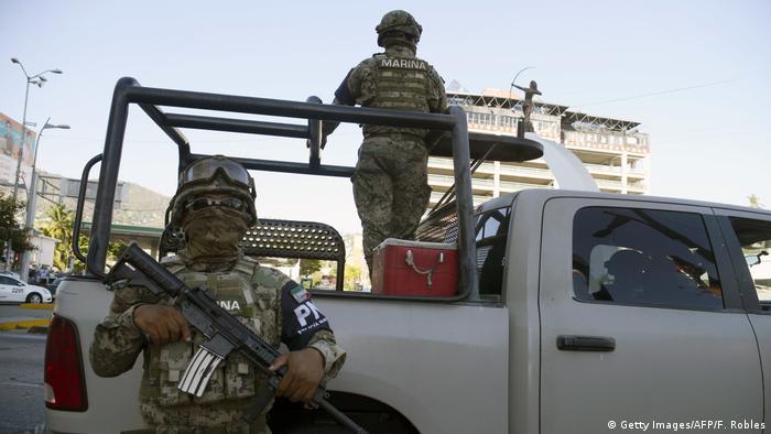 Soldados mexicanos en Guerrero