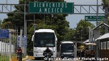 Mexiko Grenze zu Guatemala | Schild Willkommen in Mexiko