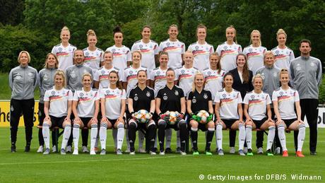 Frauenfußball Nationalmannschaft Deutschland Gruppenbild (Getty Images for DFB/S. Widmann)