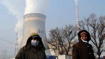 Residents near a coal power plant in Shenyang, China