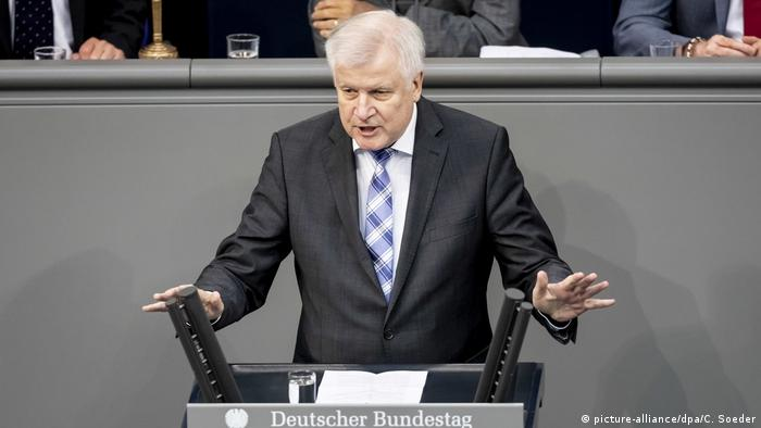 Deutschland Bundestag Horst Seehofer