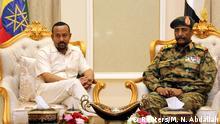 Äthiopien Sudan Premierminister Abiy Ahmed und General Abdel Fattah Al-Burhan Abdelrahman