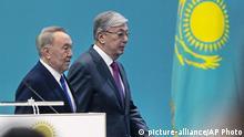 Kasachstan Wahlen Kassym-Jomart Tokayev und Nursultan Nasarbajew
