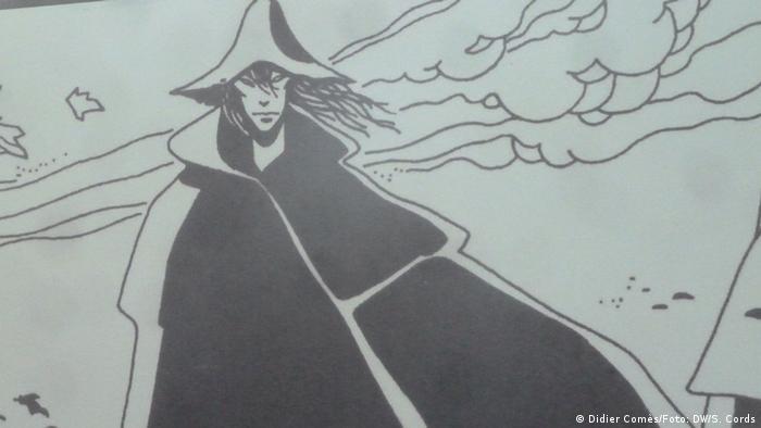 Comicfigur Silence (Didier Comès/Foto: DW/S. Cords)