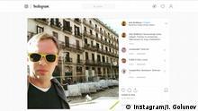 Screenshot Ivan Golunov Instagram