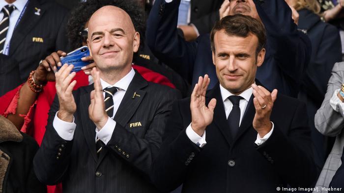 FIFA Frauen WM 2019 Eröffnung Frankreich - Südkorea Macron und Infantino