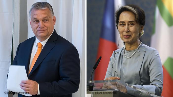 Hungarian Prime Minister Viktor Orban and Burmese State Counselor Aung San Suu Kyi