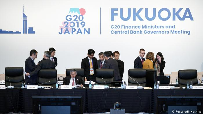 Bank of Japan Governor Haruhiko Kuroda and other participants prepare to attend the G20 finance ministers and central bank governors meeting, in Fukuoka