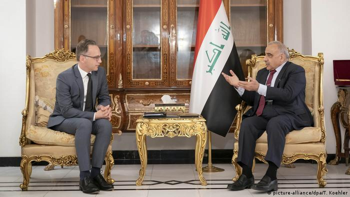 Außenminister Maas im Irak - Heiko Maas und Adil Abdul-Mahdi (picture-alliance/dpa/T. Koehler)
