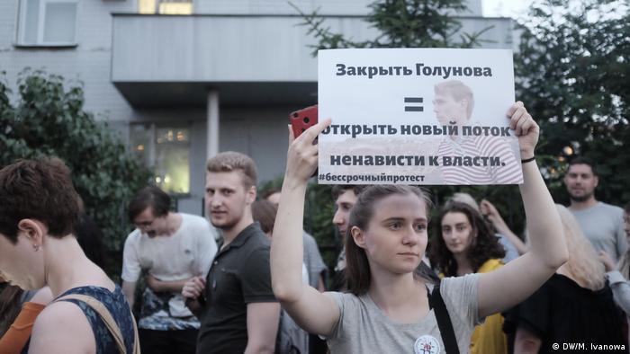 Rosja Protest w obronie dziennikarza