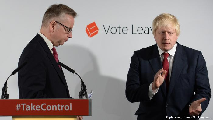England: Boris Johnson Michael Gove (picture-alliance/S. Rousseau)
