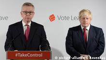 England: Boris Johnson Michael Gove