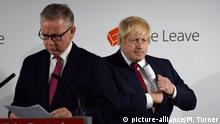 England: Boris Johnson Michael Gove