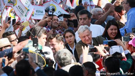 Mexiko Präsident Lopez Obrador in Tijuana