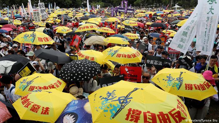 Hongkong Demonstration gegen das Zulassen von Auslieferungen nach China